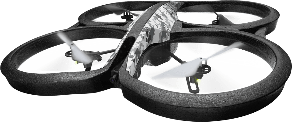the Parrot AR Drone 2.0 (Elite Edition) Quadricopter