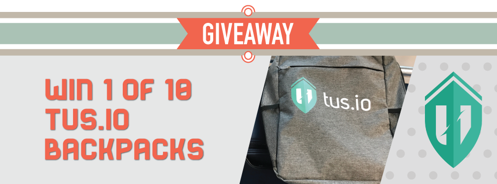 Giving away ten tus.io backpacks!