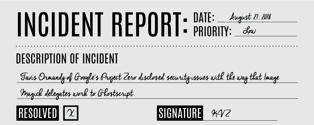 Ghostscript Security Incident