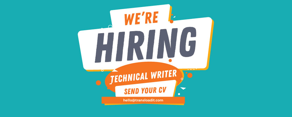 We're Hiring a Technical Writer